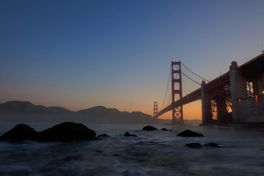 A Misty Morning at the Golden Gate: Just a bit of San Francisco
